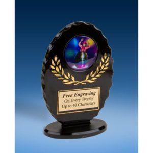 Clown Oval Black Acrylic Trophy