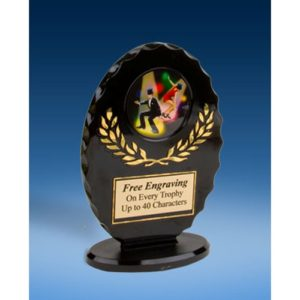 Dance Oval Black Acrylic Trophy
