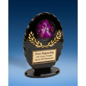 Dance 2 Oval Black Acrylic Trophy
