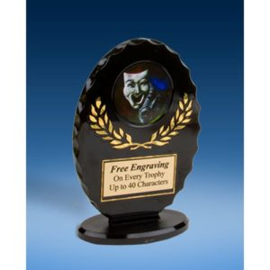 Drama Oval Black Acrylic Trophy