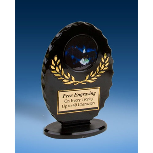 Eagle Oval Black Acrylic Trophy