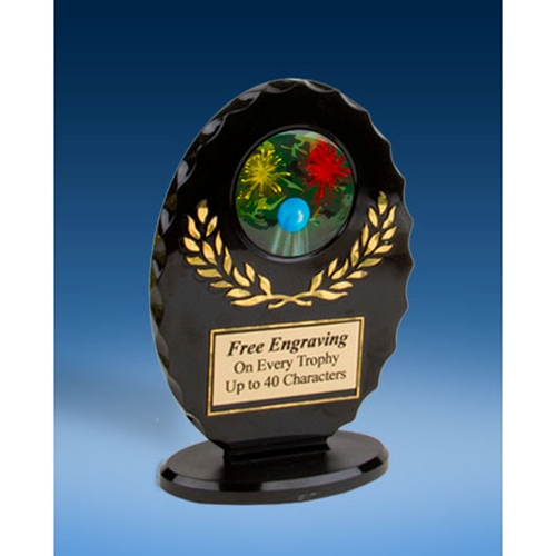 Paintball Oval Black Acrylic Trophy