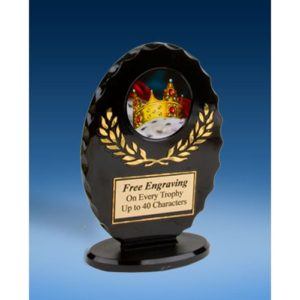 Prom King Oval Black Acrylic Trophy