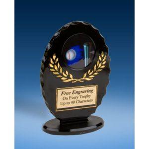 Softball Oval Black Acrylic Trophy