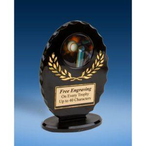 T-Ball Oval Black Acrylic Trophy