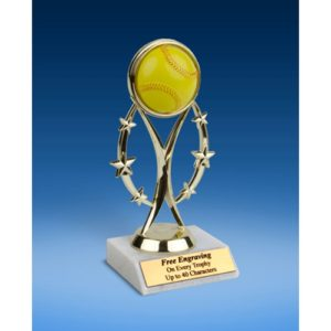 "Softball 7"" Colored Sport Figure Trophy"