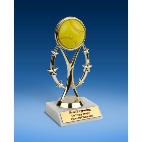 "Softball 7"" Colored Sport Figure Trophy"