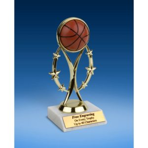 "Basketball 7"" Colored Sport Figure Trophy"