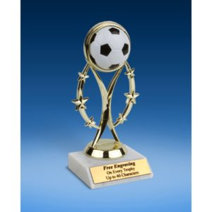 "Soccer 7"" Colored Sport Figure Trophy"