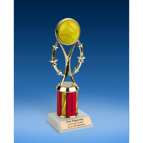 "Softball 9"" Colored Sport Figure Trophy"