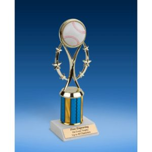 "Baseball 9"" Colored Sport Figure Trophy"