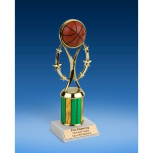 "Basketball 9"" Colored Sport Figure Trophy"