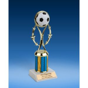 "Soccer 9"" Colored Sport Figure Trophy"