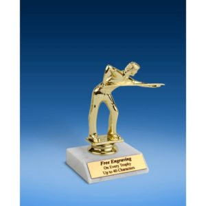 Billiards Sport Figure Trophy 6""