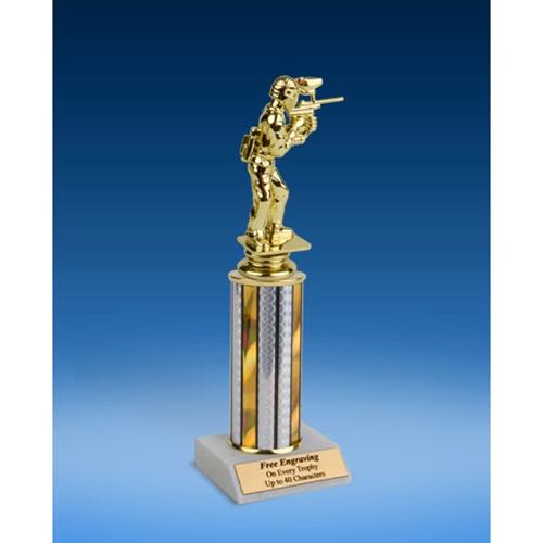 "Paintball Sport Figure Trophy 10"""