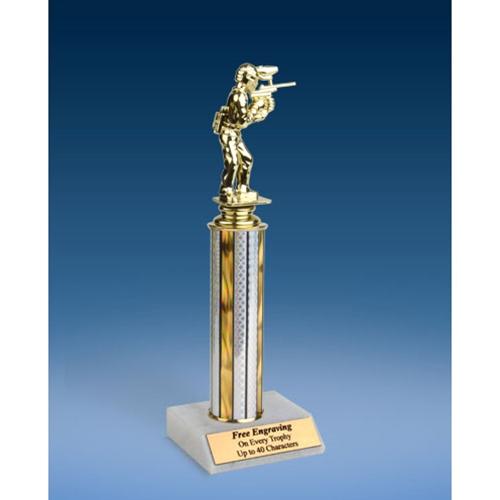 "Paintball Sport Figure Trophy 12"""