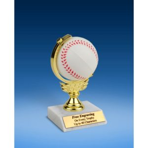 Baseball Soft Spinner Ball Trophy 6""