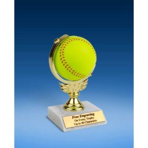 "Softball Soft Spinner Ball Trophy 6"""