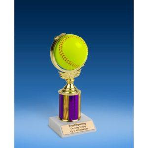 "Softball Soft Spinner Ball Trophy 8"""