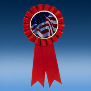USA Flag Participation Ribbon