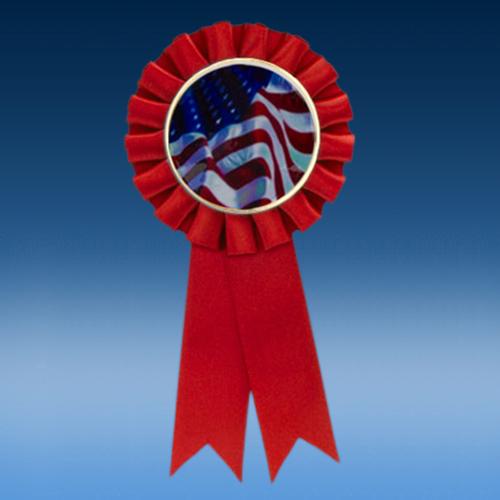USA Flag Participation Ribbon
