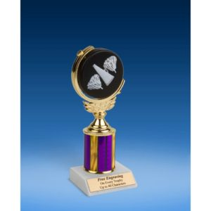 Cheerleading Soft Spinner Ball Trophy 8""