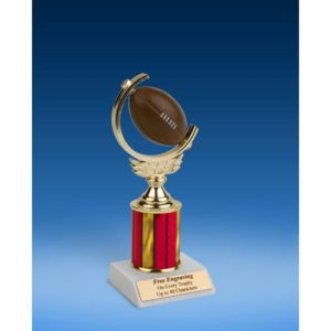 Football Soft Spinner Ball Trophy 8""
