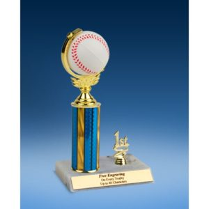 Baseball Soft Spinner Ball Trim Trophy 10""
