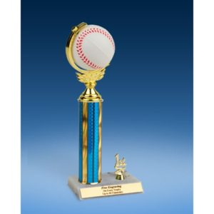 Baseball Soft Spinner Ball Trim Trophy 12""