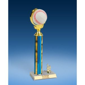 Baseball Soft Spinner Ball Trim Trophy 14""