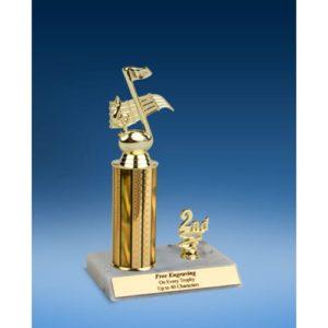 "Music Sport Figure Trim Trophy 10"""
