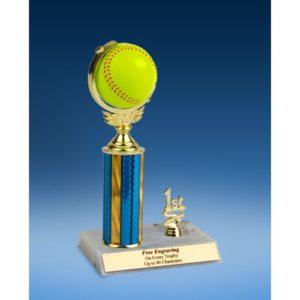 "Softball Soft Spinner Ball Trim Trophy 10"""