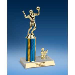 Volleyball Sport Figure Trim Trophy 10""