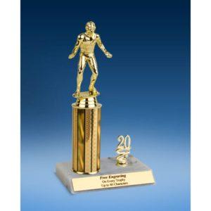 "Wrestling Sport Figure Trim Trophy 10"""