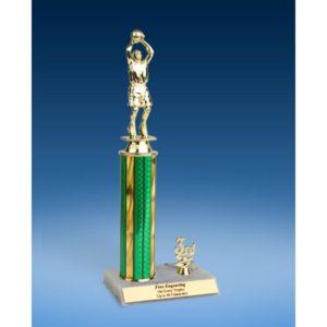 "Basketball Sport Figure Trim Trophy 12"""