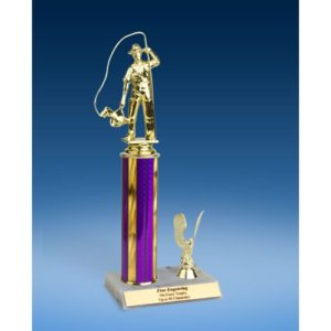 Fishing Sport Figure Trim Trophy 12""