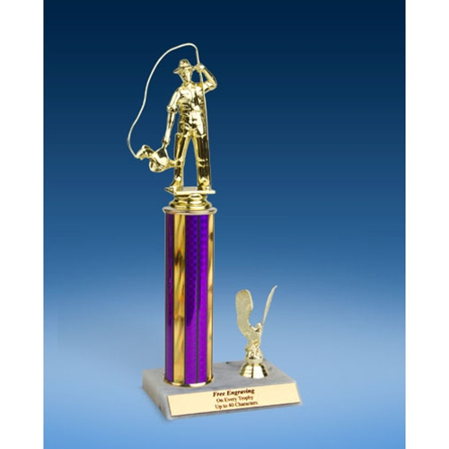 "Fishing Sport Figure Trim Trophy 12"""
