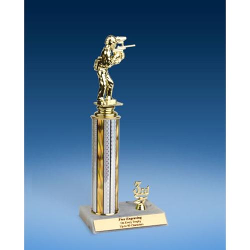 "Paintball Sport Figure Trim Trophy 12"""