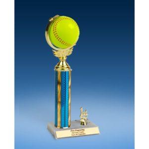 "Softball Soft Spinner Ball Trim Trophy 12"""