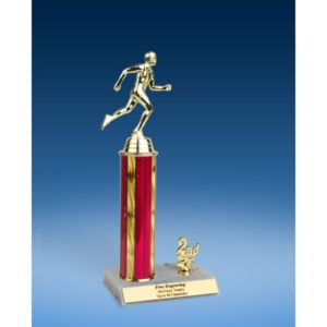 Track Sport Figure Trim Trophy 12""