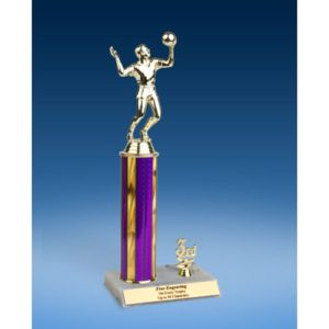 Volleyball Sport Figure Trim Trophy 12""