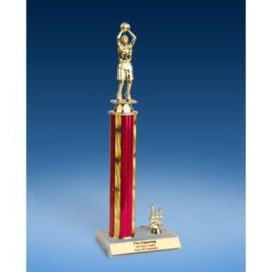 "Basketball Sport Figure Trim Trophy 14"""
