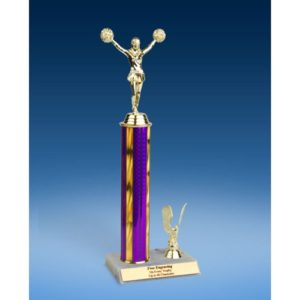 """Cheerleading Sport Figure Trim Trophy 14"""""""