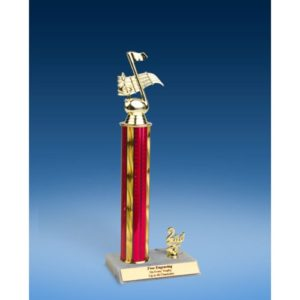 Music Sport Figure Trim Trophy 14""