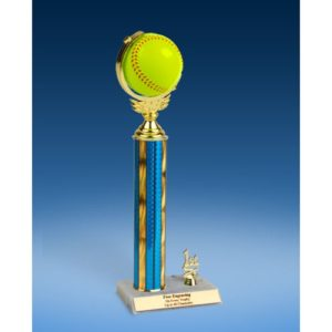 "Softball Soft Spinner Ball Trim Trophy 14"""