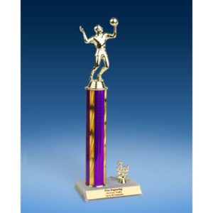 Volleyball Sport Figure Trim Trophy 14""