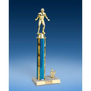 "Wrestling Sport Figure Trim Trophy 14"""