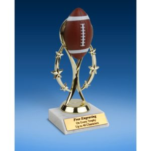 """Football 7"""" Colored Sport Figure Trophy"""