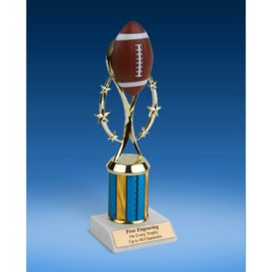 """Football 9"""" Colored Sport Figure Trophy"""