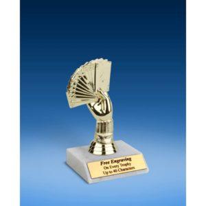 """Poker Sport Figure Trophy 6"""""""